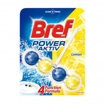 Шарики для Туалета, Bref, power aktiv Lemon, 50г
