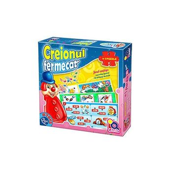 Puzzle interactiv Creionul fermecat + puzzle 24 copii., Cod 41201