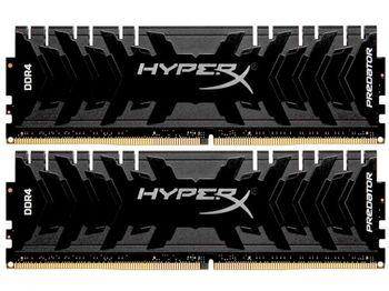 16 ГБ DDR4-3333 МГц Kingston HyperX Predator (HX433C16PB3 / 16), CL16-18-18, 1,35 В, Intel XMP 2.0, черный