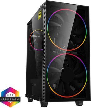 купить Case ATX GAMEMAX Black Hole, w/o PSU, 2x200mm ARGB fans, PWM hub,Transparent panel, USB3.0, Black в Кишинёве