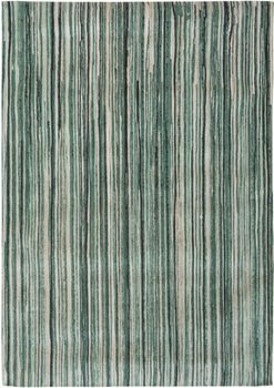 Covor fabricat manual LOUIS DE POORTERE Atlantic Green Stripes 8592