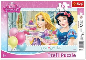 "31210 Trefl Puzzles-""15Frame""-Tea party / Disney Princess"