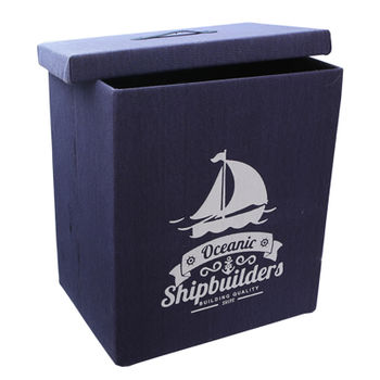 cumpără Cutie cu tematică maritimă 410x310x490 mm, albastru în Chișinău