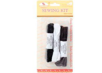 Набор шнурков (лент) 3пары, черный/белый/коричневый