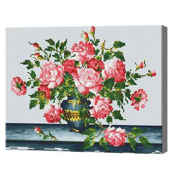 Розовые пионы, 40x50 см, алмазная мозаика, 40x50 см, Артукул: QA203316