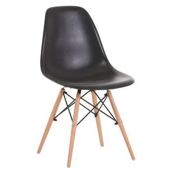 Деревянный стул с металлическими ножками, 500x460x450x820 мм, черный