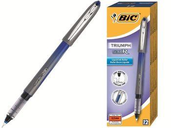 Ручка гелевая роллер-инк BIC-537 R0.5 (1/12), синяя