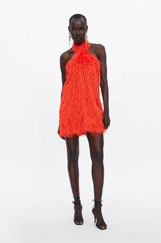 Платье ZARA Оранжевый 2866/012/615