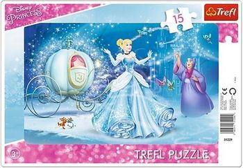 "31229 Trefl Puzzles-""15Frame""-Magical night / Disney Princess"