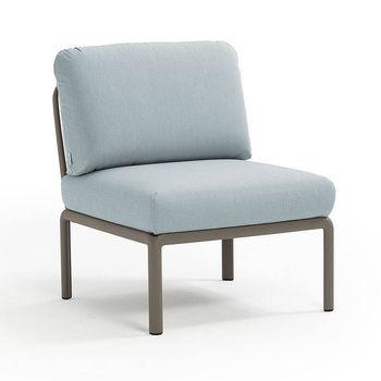 Кресло модуль центральный с подушками Nardi KOMODO ELEMENTO CENTRALE TORTORA-ghiaccio Sunbrella 40373.10.138
