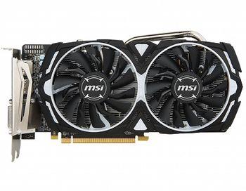 MSI Radeon RX 570 ARMOR 8G OC /  8GB DDR5 256Bit 1268/7000Mhz, DVI, 2x HDMI, 2x DisplayPort, Dual fan - ARMOR 2X thermal design (Zero Frozr/Airflow Control Technology), TORX FAN, Gaming App, Retail
