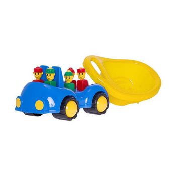 "Машинка ""Cookie"" с человечками желтый код.40432"