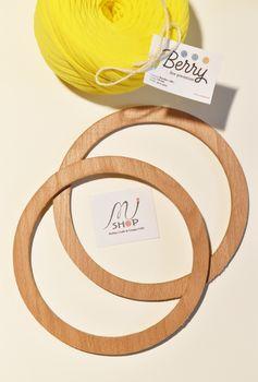 Mâner din lemn, natural / 17 cm