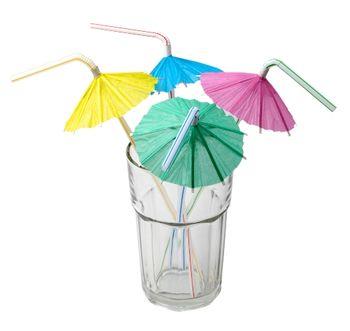 """Набор соломок для коктейля с украшениями """"зонтик"""" 50шт"""