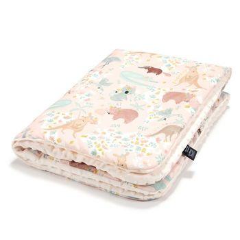 купить Одеялко La Millou Dundee & Friends Pink / Ecru 100x80 см в Кишинёве