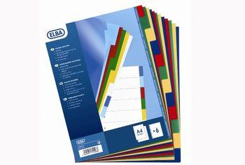 """Semne de carte """"index"""" Elba А4, 12buc/set (plastic)"""