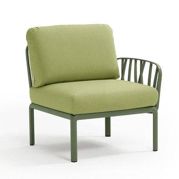 Кресло модуль правый / левый с подушками Nardi KOMODO ELEMENTO TERMINALE DX/SX AGAVE-avocado Sunbrella 40372.16.139