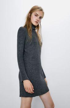 Платье ZARA Тёмно-серый zara 6873/125/802