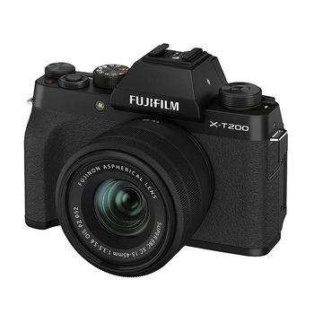 Fujifilm X-T200 Black XC15-45mm F3.5-5.6 OIS PZ Kit, Mirrorless Digital Camera Fujifilm X System (Aparat fotografic)