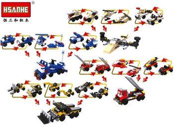 Конструктор HSANHE mini car 9.5X7X4.4cm, 12 видов (N6000)