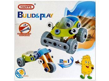 """Конструктор """"Hanye"""" 2в1 машина-мотоцикл 15X15X8cm"""