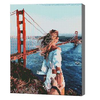 Следуй за мной в Сан-Франциско, 40x50 см, алмазная мозаика  QA204492