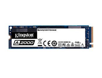 500GB SSD M.2 Type 2280 PCIe NVMe 3.0 x4 Kingston A2000, SA2000M8/500G, Read 2200MB/s, Write 2000MB/s, SA2000M8/500G (solid state drive intern SSD/внутрений высокоскоростной накопитель SSD)