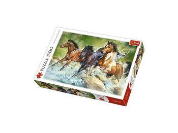 """Пазлы """"1500 -""""Three wild horses"""", код 42184"""