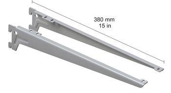 cumpără Clemă unghiulară 380 mm, 1 pereche, gri în Chișinău