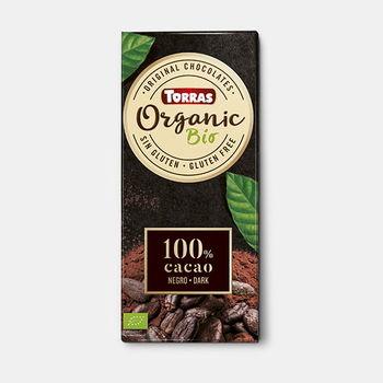 Ciocolata amara 100% bio f/a gluten Torras 100g