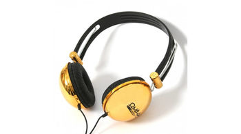 Freestyle FH0012BG Headset with micriphone, blacj&gold