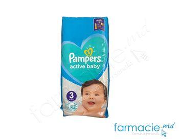 cumpără Scutece PAMPERS Active Baby Midi 3 N54 (6-10 kg) în Chișinău
