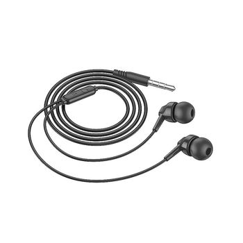 Borofone BM51 black (728883) Hoary universal earphones with microphone, Speaker outer diameter 10MM, cable length 1.2m, Microphone