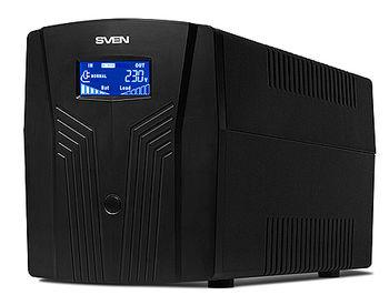 SVEN Power Pro 1500 Line-Interactive, 1500VA/900W, AVR, Input 175~280V, Output 220V +- 10%, LCD, Tel/fax/modem Protection, USB port (sursa neintreruptibila de energie/источник бесперебойного питания)