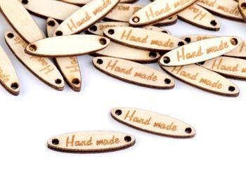 Etichetă din lemn Handmade / fag