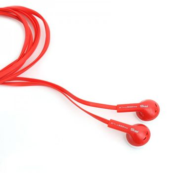 Freestyle FH1020R  in-ear headphones  with micriphone, red