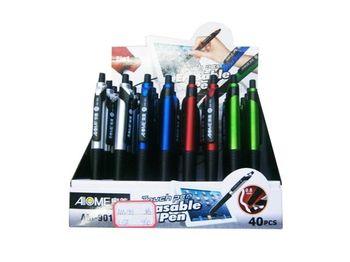 Ручка шариковая-стилус co стирателем 2в1, 0.8mm, синяя (ф)