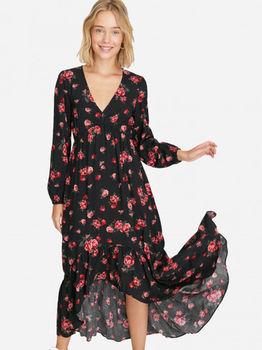 Платье Stradivarius Черный в цветочек 6358/600/100