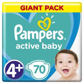 купить Pampers Подгузники Giant Pack 4+, 9-16 kг, 70 шт. в Кишинёве