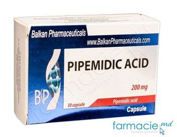 купить Pipemidic acid caps. 200 mg N10x3 (Balkan) в Кишинёве
