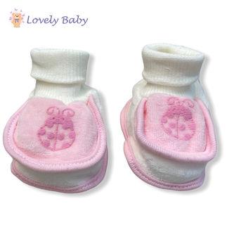 Пинетки розовые велюр