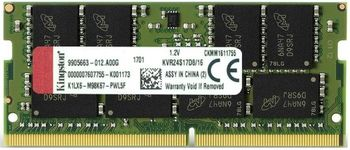 16GB DDR4-2400 SODIMM  Kingston ValueRam, PC19200, CL17, 1.2V