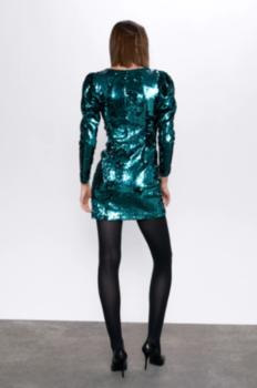 Платье ZARA Зеленый 2197/858/500