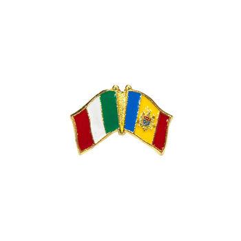 cumpără Insignă - Drapel Italia & Moldova în Chișinău
