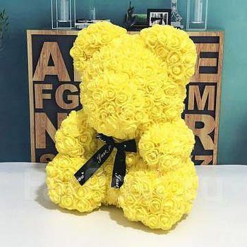 купить Медведь из желтых  роз 40 см в Кишинёве