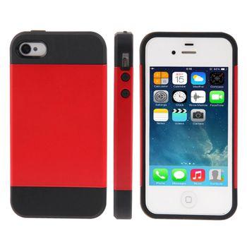 Чехол SGP Tough Armor комбинированный iPhone 4 / 4S красный