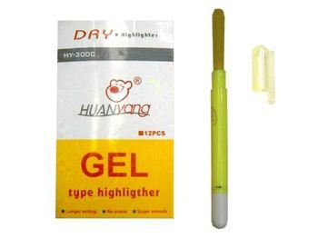 Маркер текстовыделитель гелевый HY-900 желтый