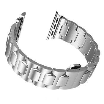 купить Ремешок Apple Watch Series1/2/3/4(44mm), Steel, Hoco Silver в Кишинёве
