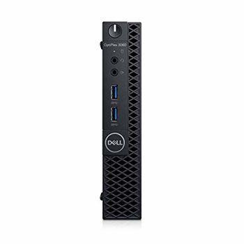 DELL OptiPlex 3060 MFF lnteI® Core® i3-8100T +W10Pro (Quad Core, 3.10GHz, 6MB), 4GB DDR4 RAM, 128GB M.2 SSD, no ODD, lnteI® UHD630 Graphics, Wi-Fi/AC-MU-MIMO/BT4.1, TPM, 65W PSU, USB mouse, USB KB216-B, Win 10 Pro, Black