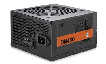 "PSU DEEPCOOL ""DN450 New version"", 450W, ATX 2.31, 80 PLUS®, Active PFC, 120mm fan with PWM,  +12V (50A), 20+4 Pin, 1xEPS(4+4Pin), 5x SATA, 1xPCI-E(6+2pin), 3x Peripheral, MTBF100000Hours, CircuitShield™, Black"